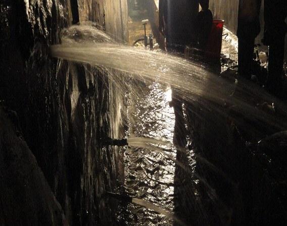 大面积地下室堵漏